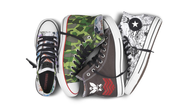 2f372a4c615c Converse has teamed up with the ever-awesome Gorillaz for four distinct  design concepts for their newest footwear collaboration.