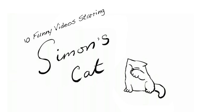 Image of: Cute Cats Simons Cat Is One Of The Bestloved Cartoons On Youtube Its Not Hard To Guess Why Simons Cat Has Over 266 Million Views For The Series And Close To Mandatory 10 Funny Videos Starring Simons Cat Mandatory